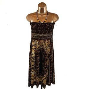 💐5/$25 JUST LOVE Beaded Halter Dress Size 2X